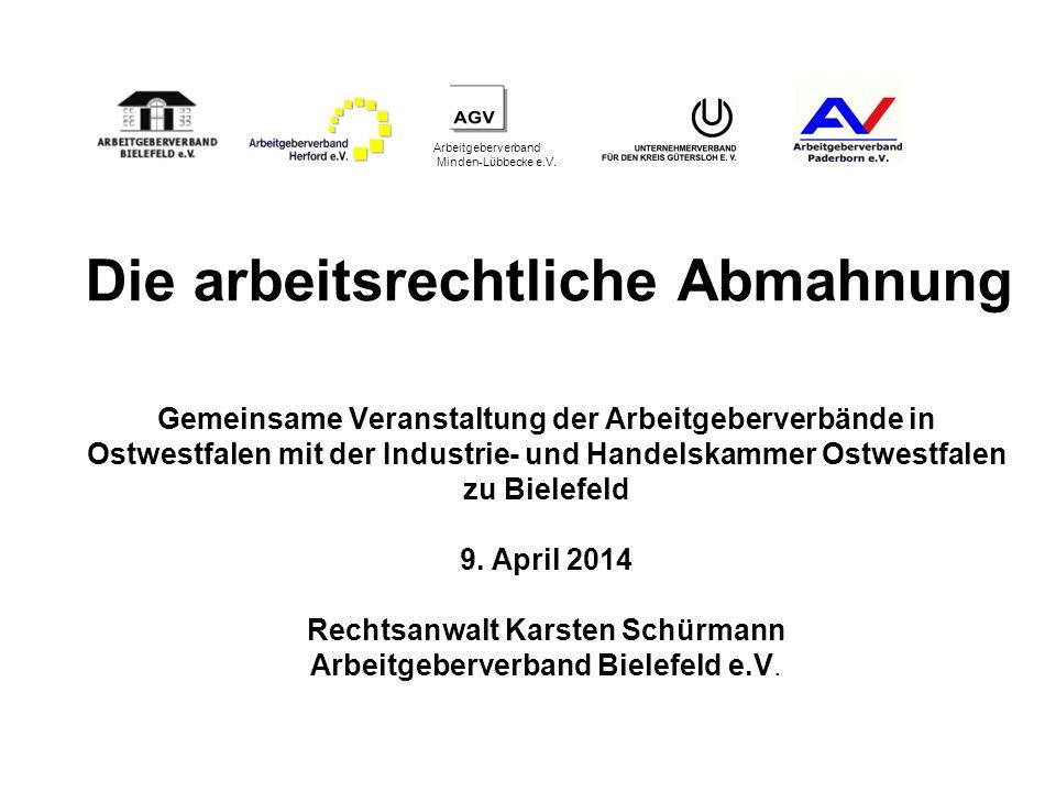 Arbeitgeberverband Minden-Lübbecke e.V. Gemeinsame Veranstaltung der Arbeitgeberverbände in Ostwestfalen mit der Industrie- und Handelskammer Ostwestf