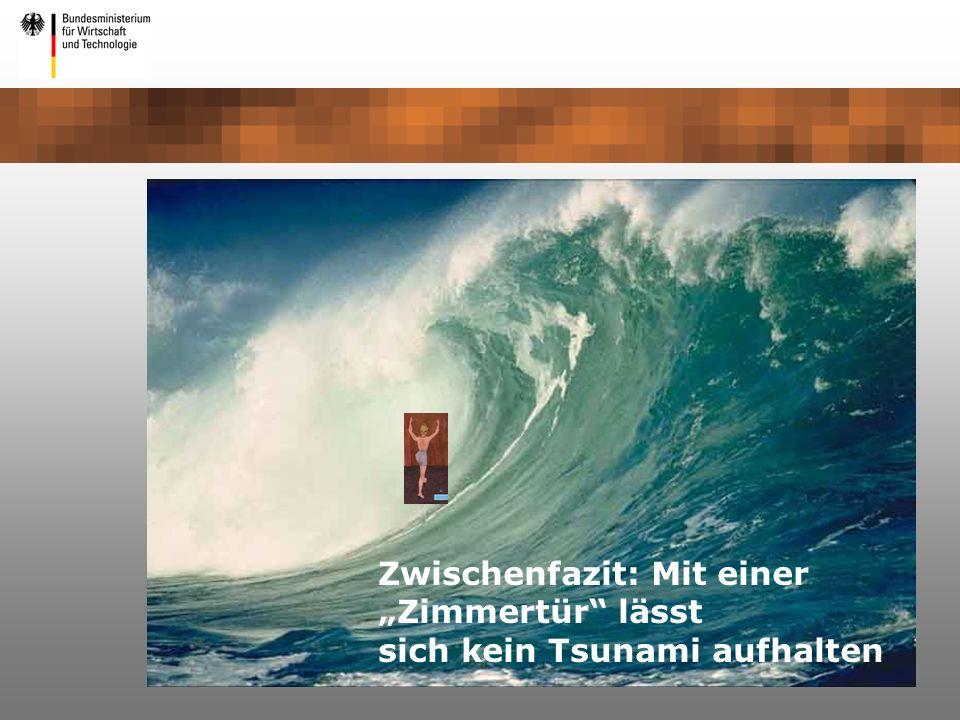 Zwischenfazit: Mit einer Zimmertür lässt sich kein Tsunami aufhalten