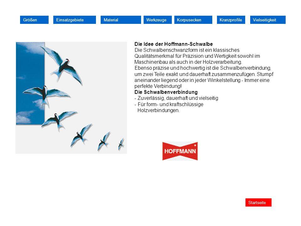 Die Idee der Hoffmann-Schwalbe Die Schwalbenschwanzform ist ein klassisches Qualitätsmerkmal für Präzision und Wertigkeit sowohl im Maschinenbau als a