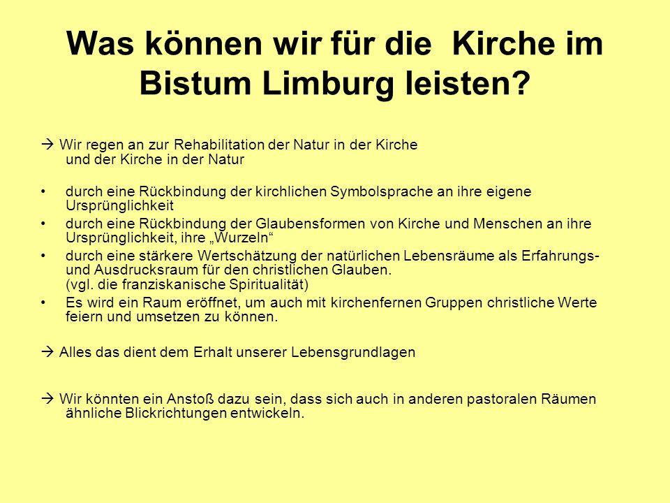 Was können wir für die Kirche im Bistum Limburg leisten.