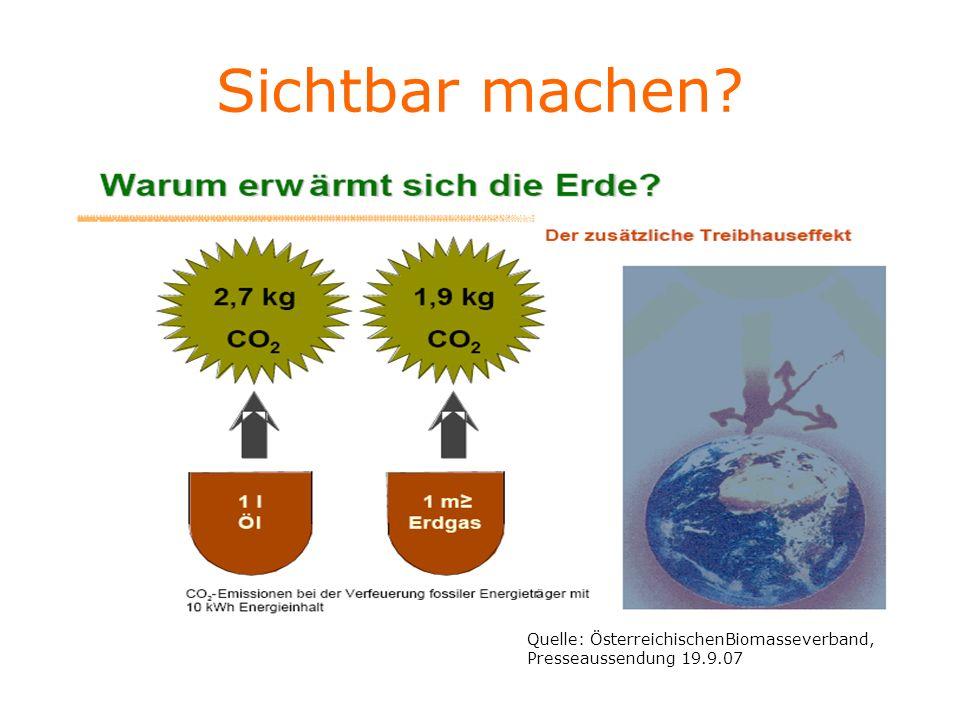 Sichtbar machen? Quelle: ÖsterreichischenBiomasseverband, Presseaussendung 19.9.07