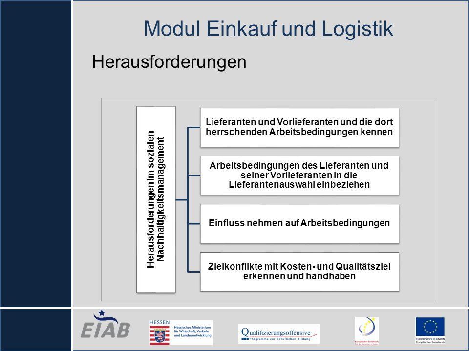 Herausforderungen Herausforderungen im sozialen Nachhaltigkeitsmanagement Lieferanten und Vorlieferanten und die dort herrschenden Arbeitsbedingungen