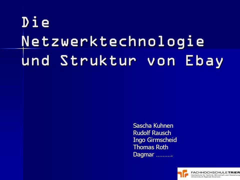 Die Netzwerktechnologie und Struktur von Ebay Sascha Kuhnen Rudolf Rausch Ingo Girmscheid Thomas Roth Dagmar ……….