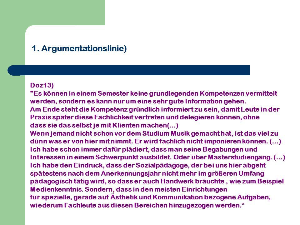 1. Argumentationslinie) Doz13)