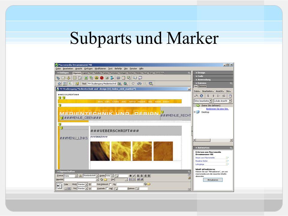 Subparts und Marker