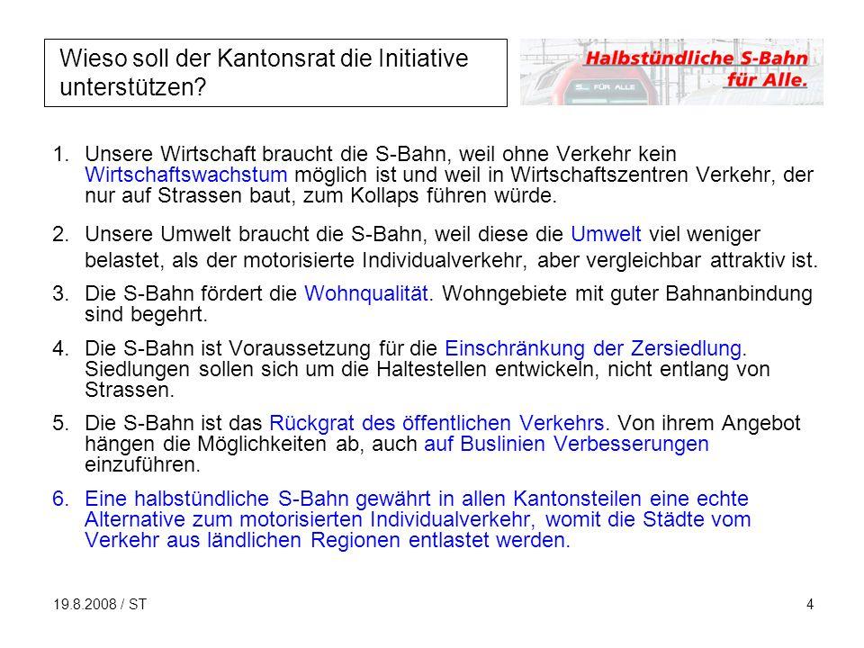 19.8.2008 / ST4 Wieso soll der Kantonsrat die Initiative unterstützen.