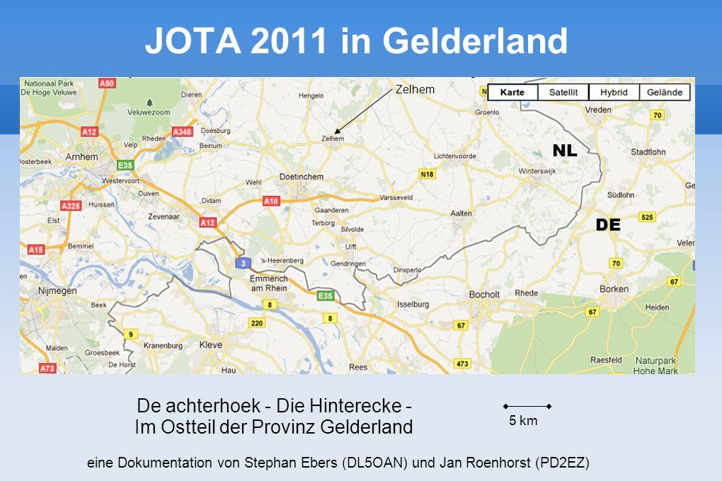 JOTA 2011 in Gelderland Zelhem 5 km De achterhoek - Die Hinterecke - Im Ostteil der Provinz Gelderland NL DE eine Dokumentation von Stephan Ebers (DL5