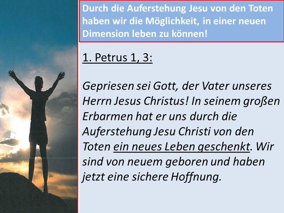 Deshalb setzen wir jetzt unser Vertrauen und unsere Hoffnung auf Gott.