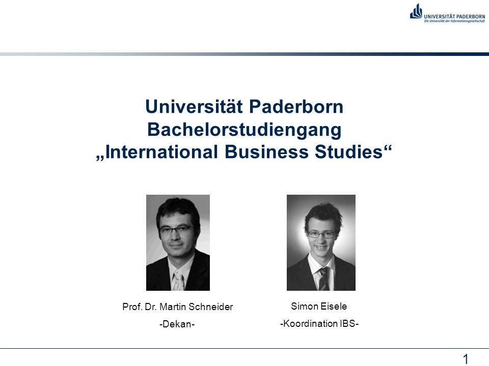 22 Absolventen in IBS: Wirtschaftsbereiche
