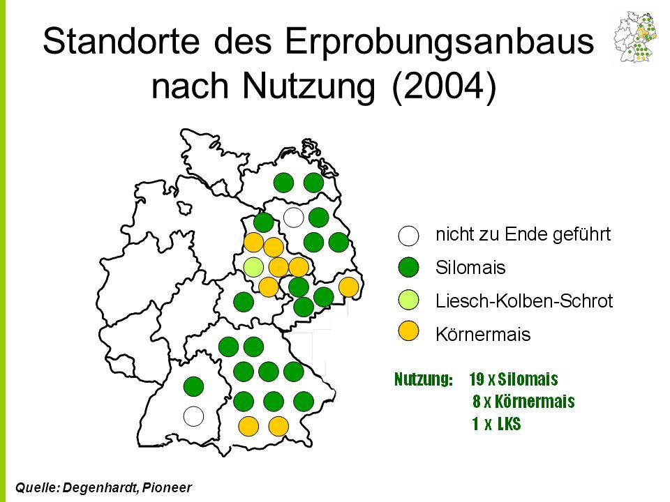 Standorte des Erprobungsanbaus nach Nutzung (2004)