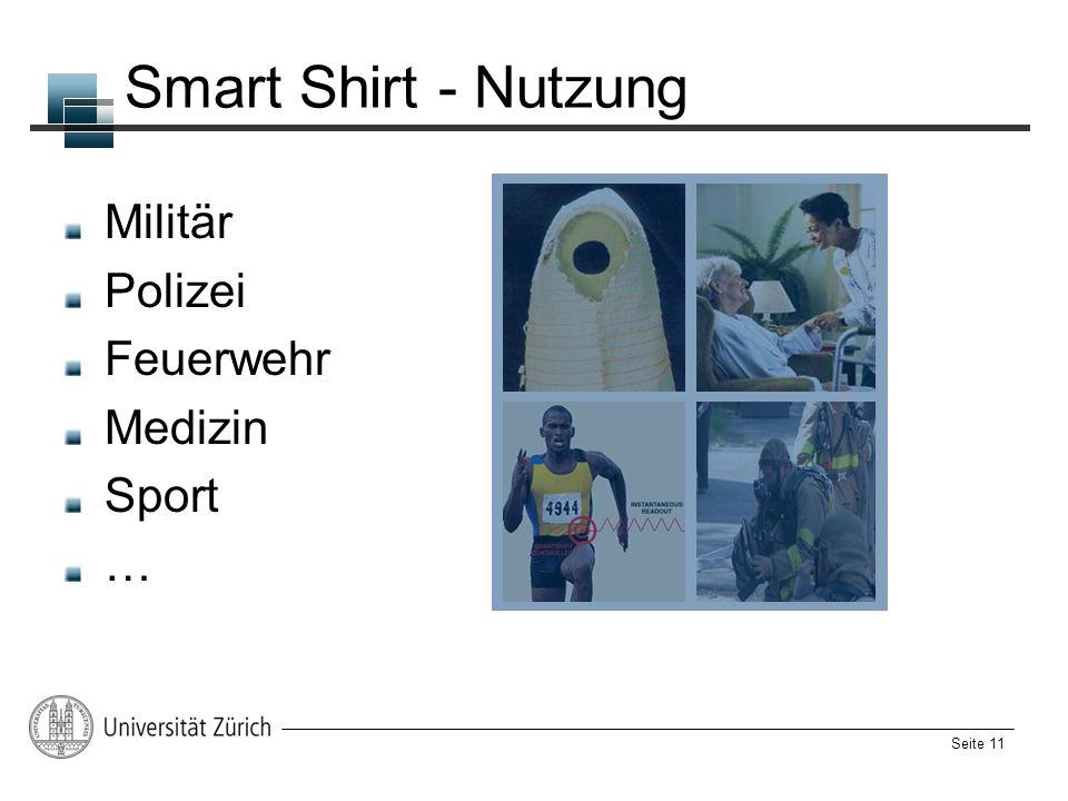 Seite 11 Smart Shirt - Nutzung Militär Polizei Feuerwehr Medizin Sport …
