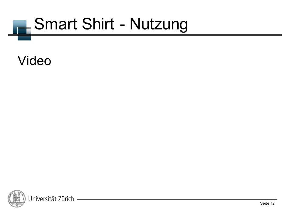 Seite 12 Smart Shirt - Nutzung Video