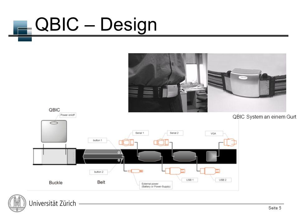 Seite 5 QBIC – Design QBIC System an einem Gurt