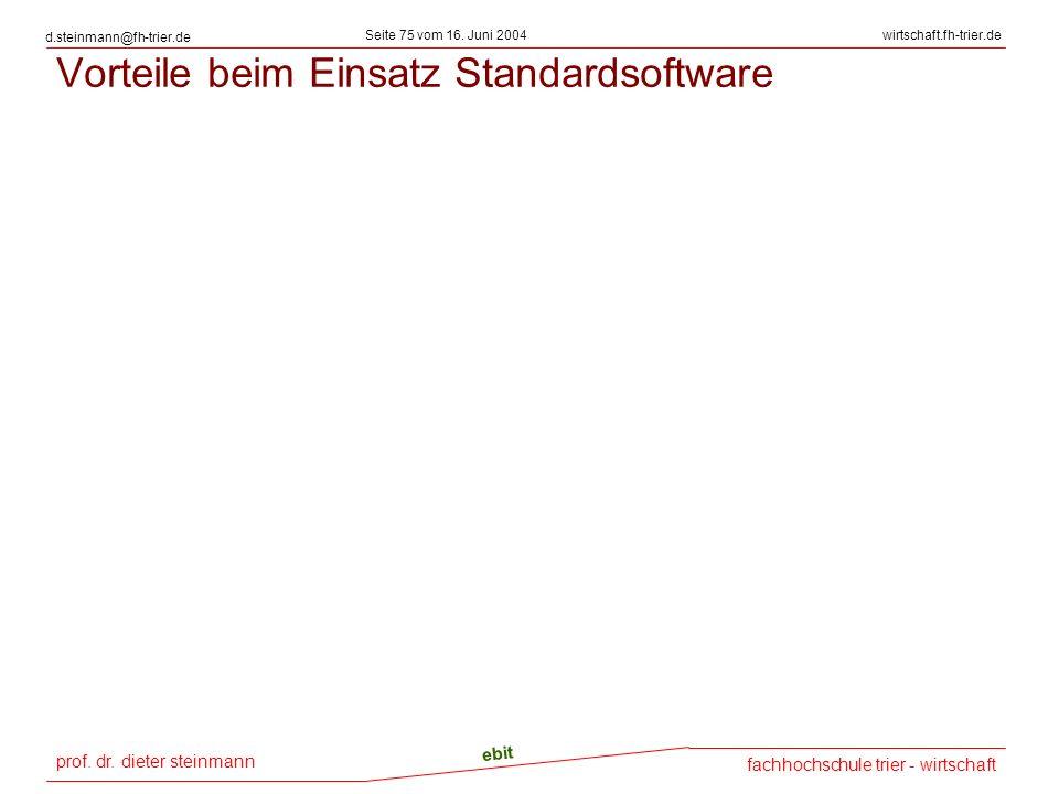 prof. dr. dieter steinmann Seite 75 vom 16. Juni 2004 ebit fachhochschule trier - wirtschaft wirtschaft.fh-trier.de d.steinmann@fh-trier.de Vorteile b