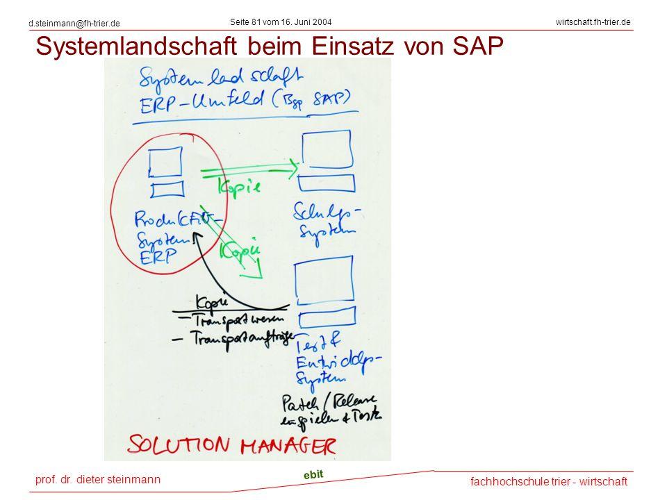 prof. dr. dieter steinmann Seite 81 vom 16. Juni 2004 ebit fachhochschule trier - wirtschaft wirtschaft.fh-trier.de d.steinmann@fh-trier.de Systemland