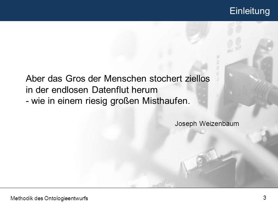 Seminar Methodik des Ontologieentwurfs Semantic Web Sommersemester 2006 Friedrich-Schiller-Universität Jena Markus Pahs Methodik des Ontologieentwurfs 4