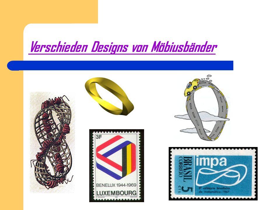 Verschieden Designs von Möbiusbänder
