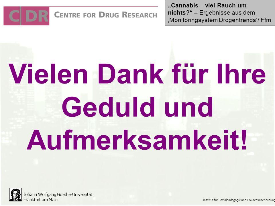 Johann Wolfgang Goethe-Universität Frankfurt am Main Institut für Sozialpädagogik und Erwachsenenbildung Vielen Dank für Ihre Geduld und Aufmerksamkeit.