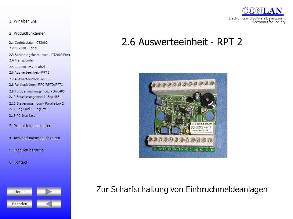 2.7 Auswerteeinheit - RPT 3 Auswerteeinheit über den Bus RS485 2.12 Log Modul - LogBox 2 2.12 Log Modul - LogBox 2 2.6 Auswerteeinheit - RPT 2 2.6 Auswerteeinheit - RPT 2 2.8 Relaisplatinen - RPO/RPTO/RPTX 2.8 Relaisplatinen - RPO/RPTO/RPTX 5.