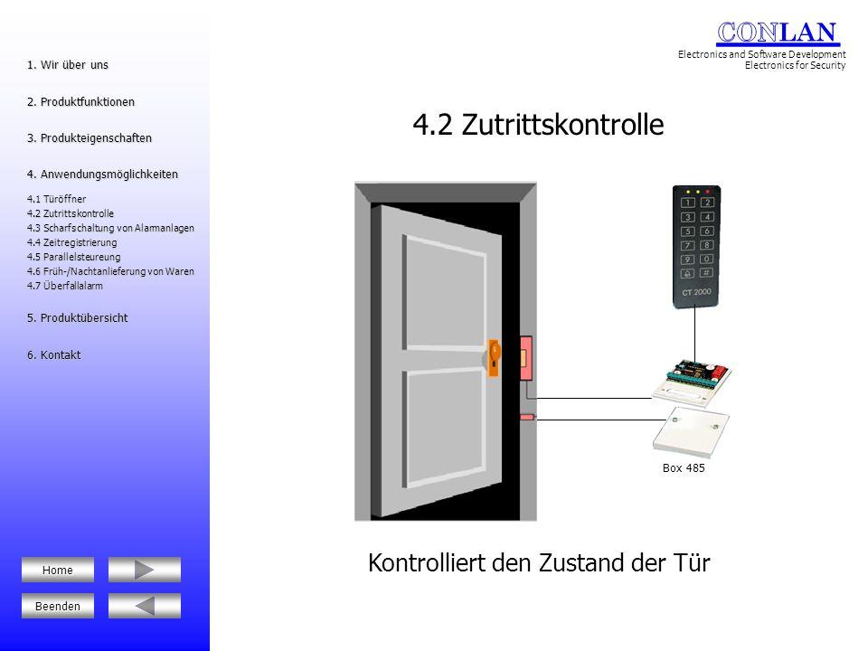 Alarmanlage Alarmaktivierung 4.3 Scharfschaltung von Alarmanlagen 1.