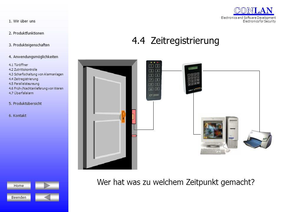 Synchrone Steuerung von bis zu 16 Codeschlössern/Lesern 4.5 Parallelsteuerung 1.
