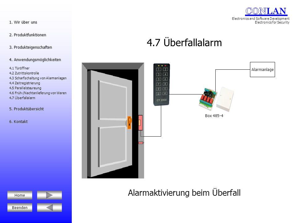 Einbruchmeldeanlage Die CT 2000 Einheiten sind stand-alone als auch vernetzt nutzbar BUS RS485 5.