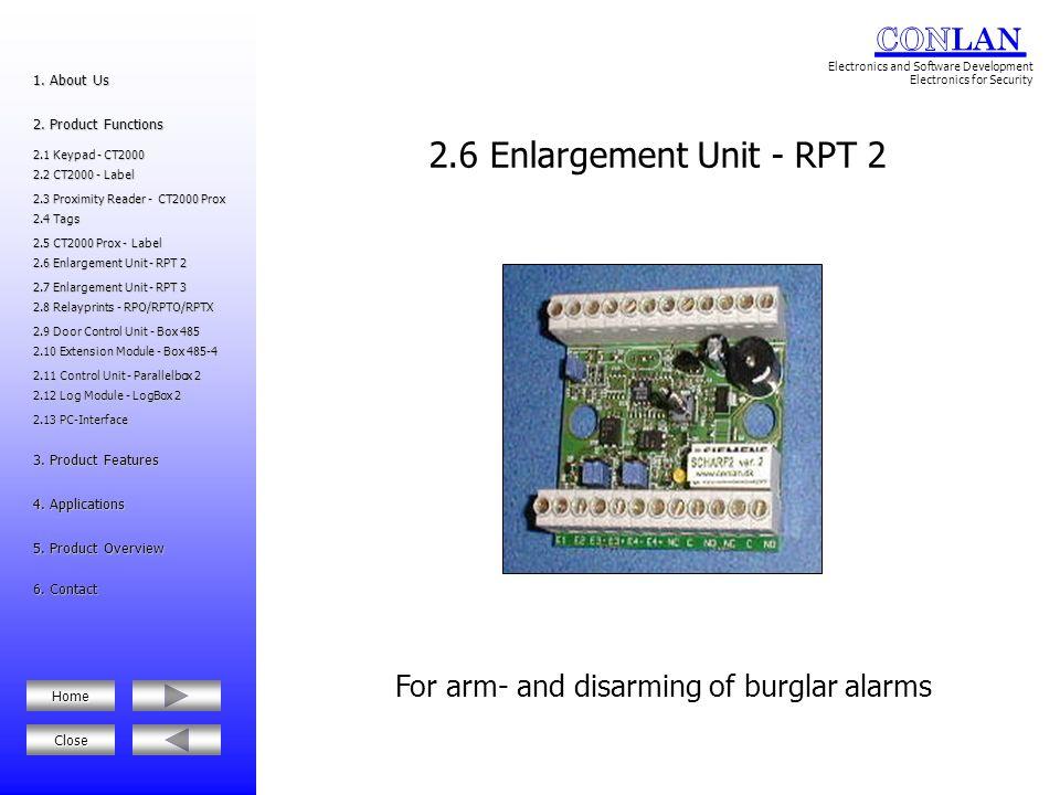 2.12 Log Module - LogBox 2 2.12 Log Module - LogBox 2 2.10 Extension Module - Box 485-4 2.10 Extension Module - Box 485-4 2.6 Enlargement Unit - RPT 2 2.6 Enlargement Unit - RPT 2 2.8 Relayprints - RPO/RPTO/RPTX 2.8 Relayprints - RPO/RPTO/RPTX 5.