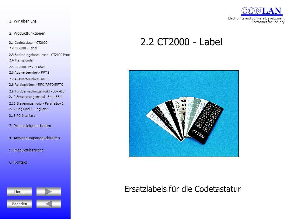 Elektronischer Schlüssel 2.12 Log Modul - LogBox 2 2.12 Log Modul - LogBox 2 2.6 Auswerteeinheit - RPT 2 2.6 Auswerteeinheit - RPT 2 2.8 Relaisplatinen - RPO/RPTO/RPTX 2.8 Relaisplatinen - RPO/RPTO/RPTX 5.