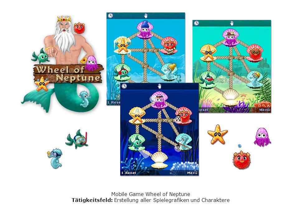 Mobile Game Wheel of Neptune Tätigkeitsfeld: Erstellung aller Spielegrafiken und Charaktere