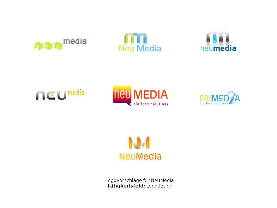 Logovorschläge für NeuMedia Tätigkeitsfeld: Logodesign