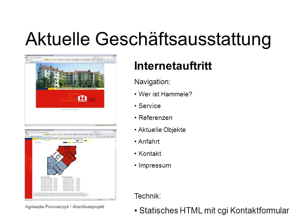 Agnieszka Piwowarczyk / Abschlussprojekt Aktuelle Geschäftsausstattung Mietvertrag Standardvertrag - kein Branding (Logo fehlt)