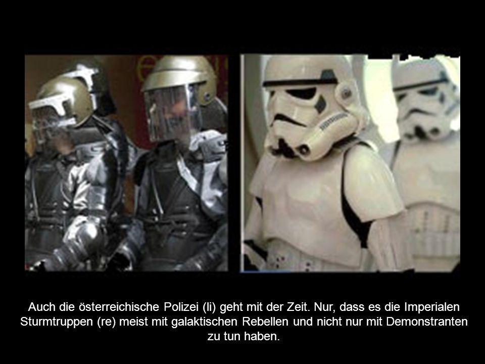 Auch die österreichische Polizei (li) geht mit der Zeit.
