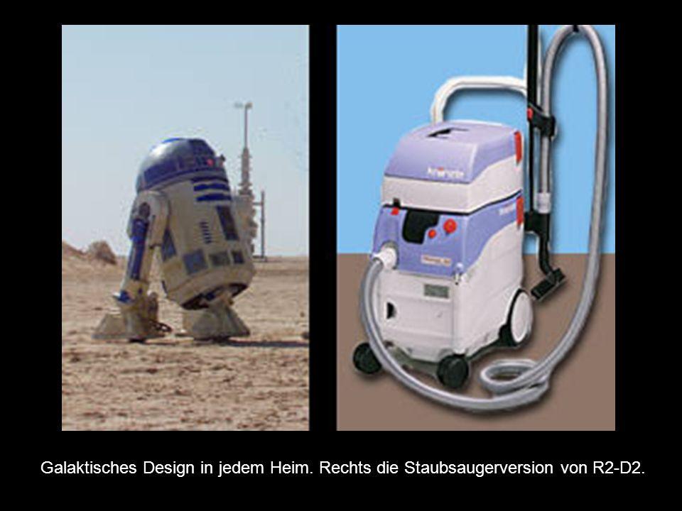 Galaktisches Design in jedem Heim. Rechts die Staubsaugerversion von R2-D2.