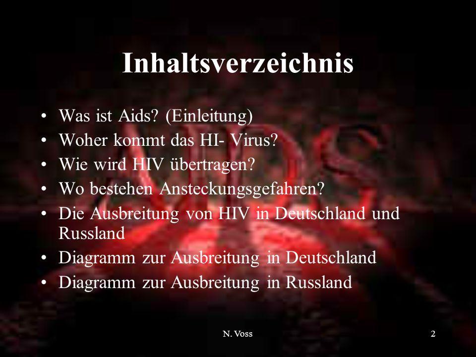 N. Voss1 Aids und HIV Das Rennen gegen die Zeit, in der das Schicksal das Ende bestimmt