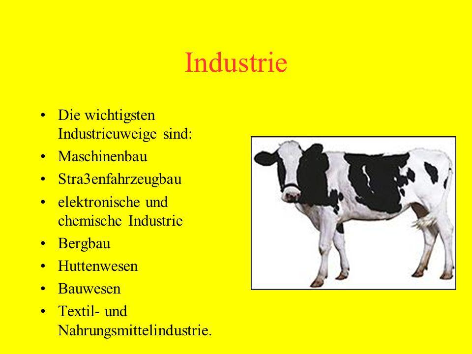 Das wichtigste Industriezentrum der BRD ist das Ruhrgebiet.