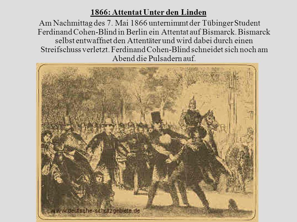 1867: Gründung des Norddeutschen Bundes