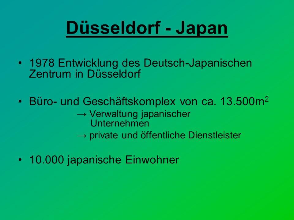 Düsseldorf - Japan 1978 Entwicklung des Deutsch-Japanischen Zentrum in Düsseldorf Büro- und Geschäftskomplex von ca.