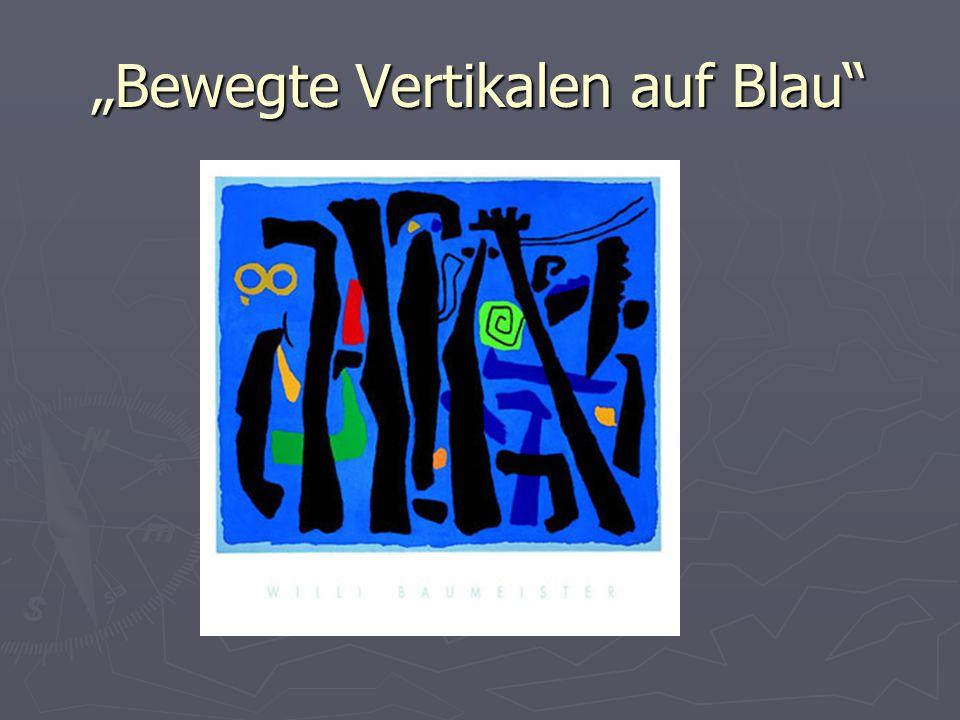 Bewegte Vertikalen auf Blau