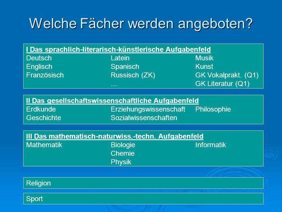 Welche Fächer werden angeboten.III Das mathematisch-naturwiss.-techn.