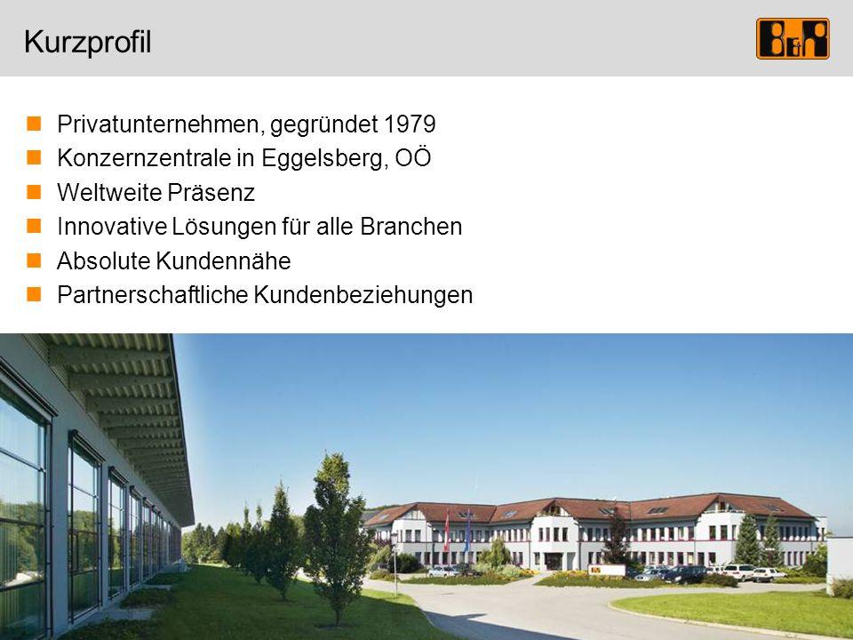 Privatunternehmen, gegründet 1979 Konzernzentrale in Eggelsberg, OÖ Weltweite Präsenz Innovative Lösungen für alle Branchen Absolute Kundennähe Partne