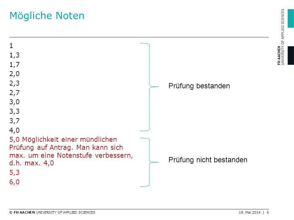 © FH AACHEN UNIVERSITY OF APPLIED SCIENCES18. Mai 2014   7 Beispiel Deutsch2,3