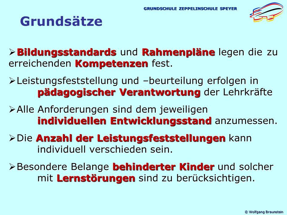 © Wolfgang Braunstein GRUNDSCHULE ZEPPELINSCHULE SPEYER Neuerungen 1.