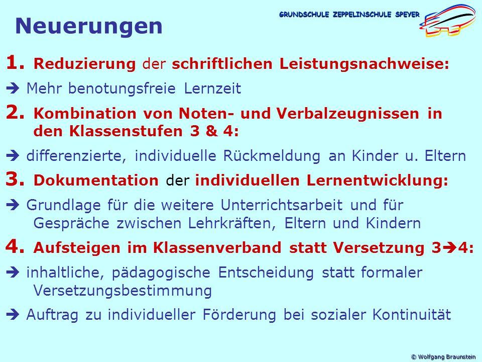 © Wolfgang Braunstein GRUNDSCHULE ZEPPELINSCHULE SPEYER Gras wächst nicht schneller, wenn man daran zieht!