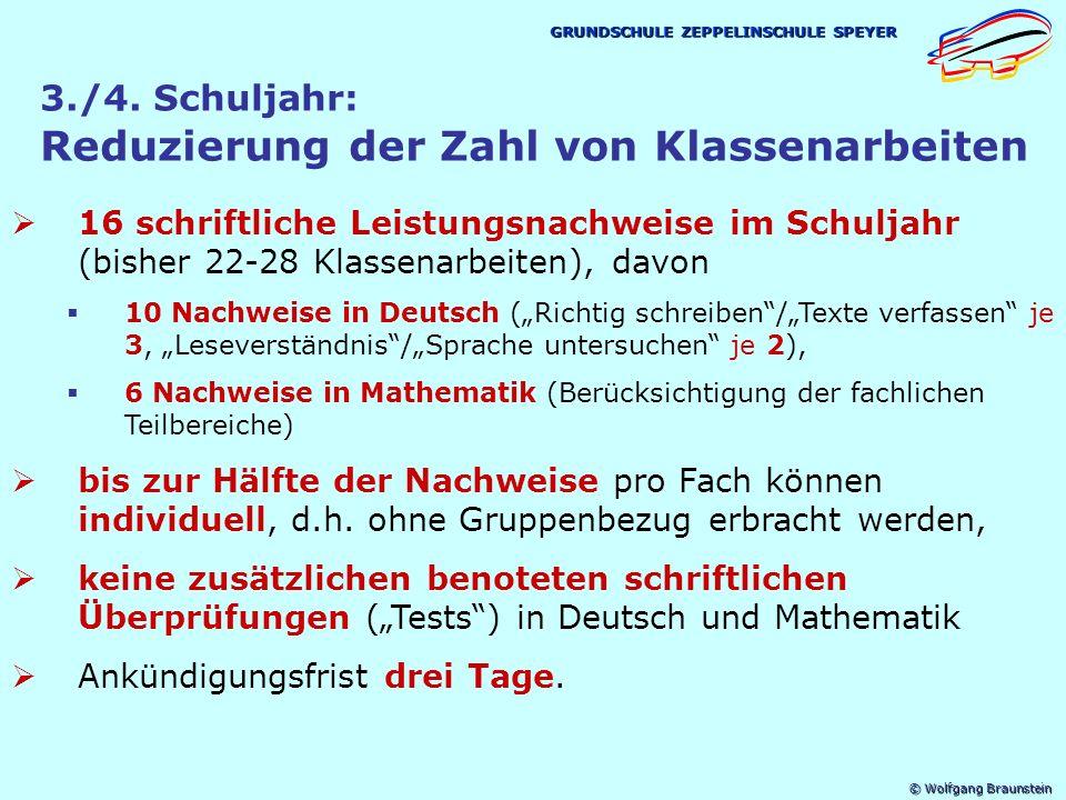 © Wolfgang Braunstein GRUNDSCHULE ZEPPELINSCHULE SPEYER 3./4.