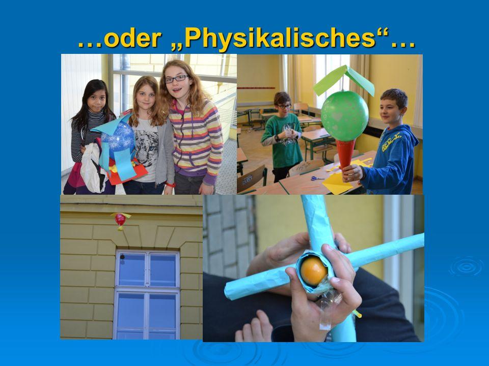 …oder Physikalisches…