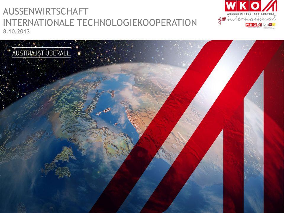 AUSSENWIRTSCHAFT INTERNATIONALE TECHNOLOGIEKOOPERATION 8.10.2013
