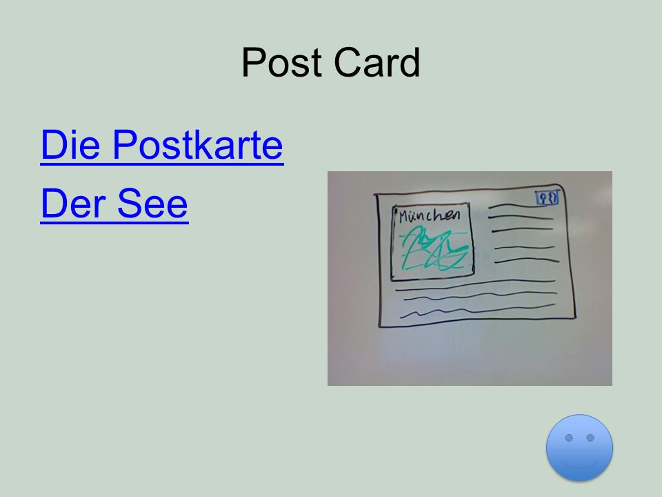 Post Card Die Postkarte Der See