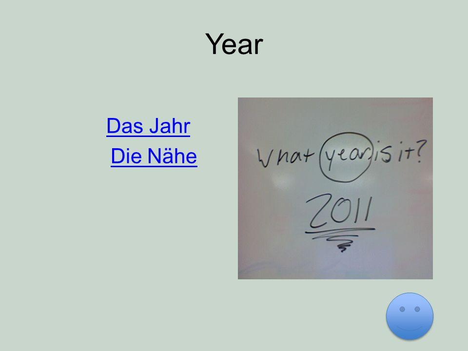 Year Das Jahr Die Nähe