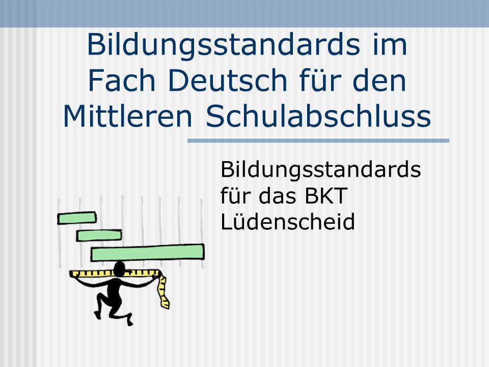 Situation Deutsch im Berufsgrundschuljahr Schüler, die geringe sprachliche Kompetenz in allen Bereichen mitbringen Unklarheit darüber, was zu unterrichten ist Unterschiede in der Leistungsbewertung