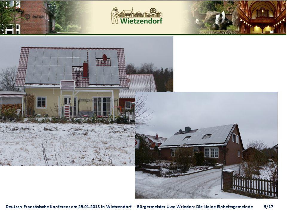 Deutsch-Französische Konferenz am 29.01.2013 in Wietzendorf - Bürgermeister Uwe Wrieden: Die kleine Einheitsgemeinde 9/17